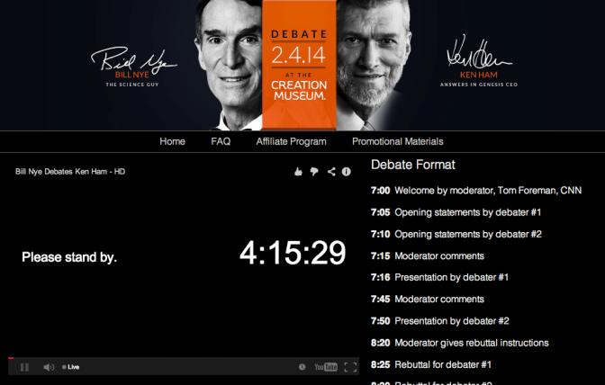"Ken Ham Debates Bill Nye ""The Science Guy"" on Creationism"