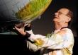 George Verwer With Globe