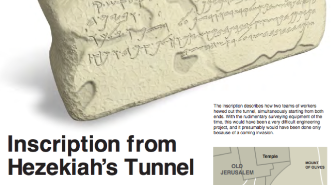 Biblical Nuggets: Inscription from Hezekiah's Tunnel