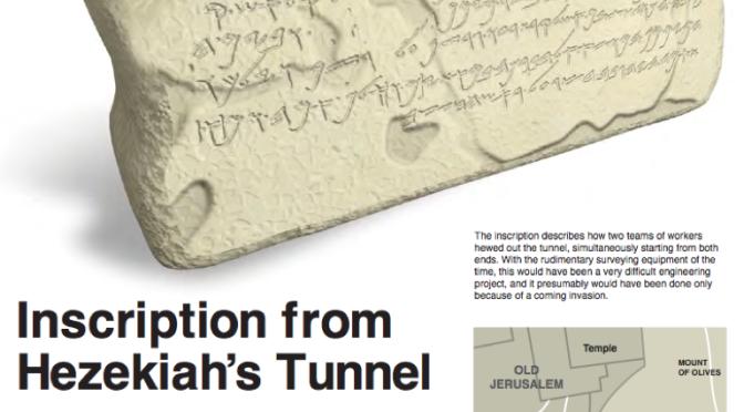 Biblical Nuggets: Inscription from Hezekiah's Tunnel