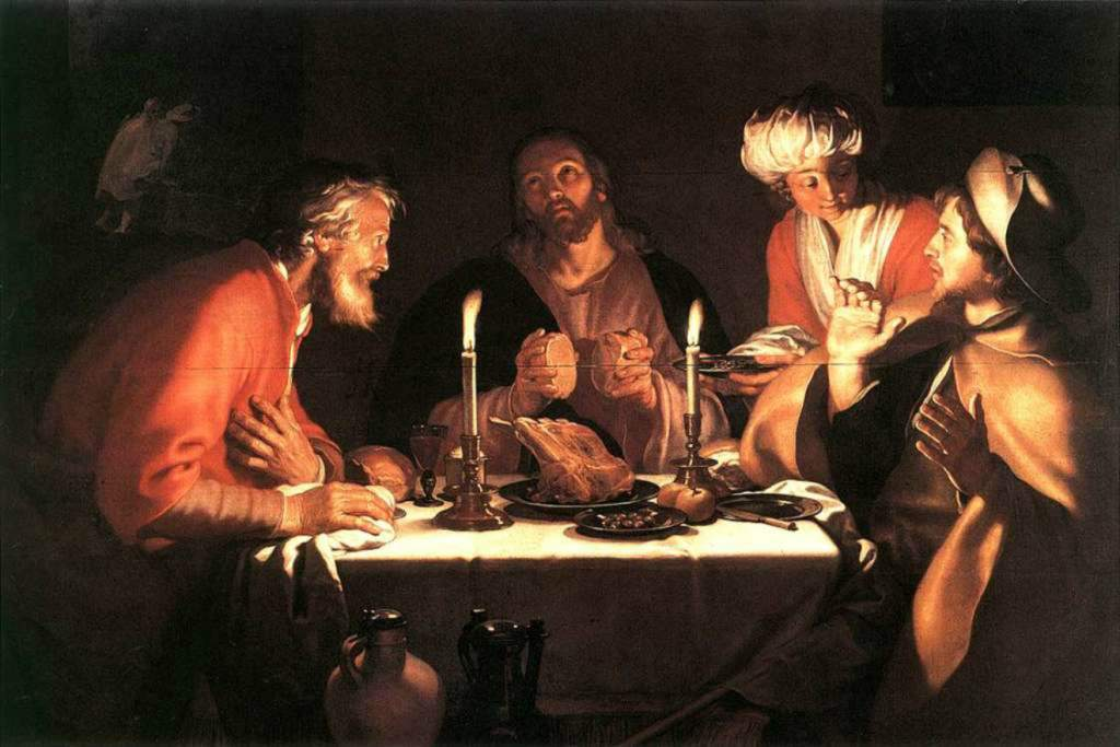 Abraham Bloemaert (Dutch), The Emmaus Disciples, 1622