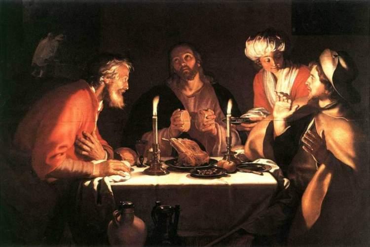 Abraham Bloemaert (Dutch), The Emmaus Disciples, 1622